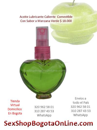 aceite lubricante sabor manzana verde rico delicioso caliente mujer ventas online medellin cali manizales colombia