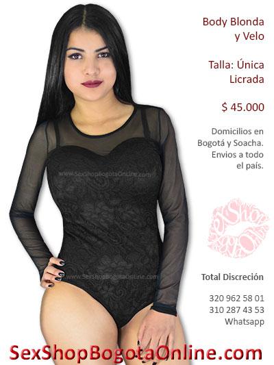 sexy body blonda y velo combinado erotico sensual femenino venta online bogota caldas quindio huila pasto boyaca narino cucuta