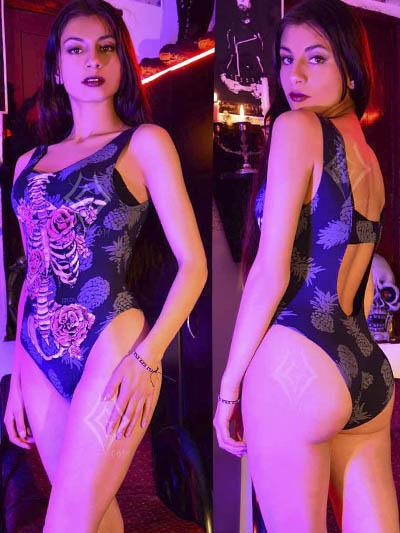 body esqueleto algodon estampado sexy erotico ventasonline domicilios cali pereira villavicencio neiva risaralda