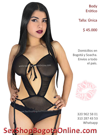 body velo sexy negro chica sensual erotico liguero venta online envios valle sucre casanare santander neiva tunja yopal cali colombia