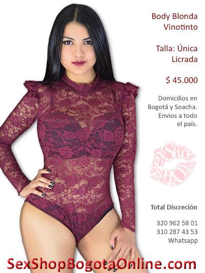 body vinotinto blonda sexy economico lenceri erotica sex shop venta cali armenia valledupar meta duitama