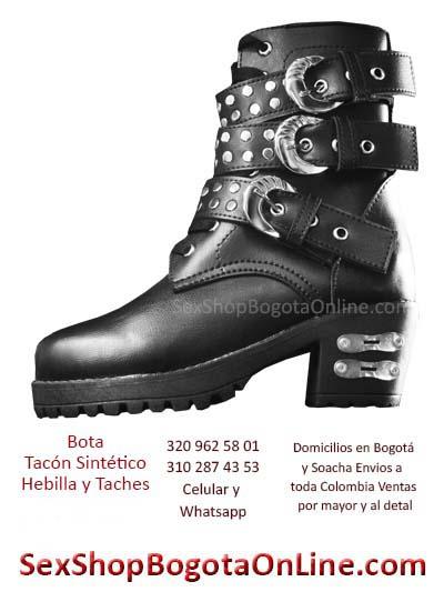 botas tacon sintetico hebillas negras tienda online bogota cali santander huila colombia