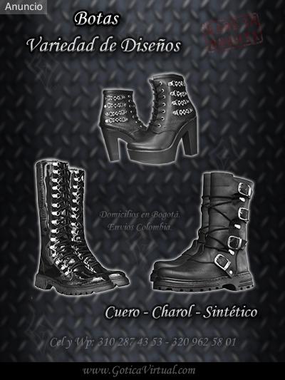 botas cuero charol rockeros metaleros punkeros tienda online rock metal bogota colombia