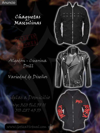chaquetas masculinas tienda online venta boutique rock metal bogota manizales zipaquira sincelejo chua duitama choco colombia