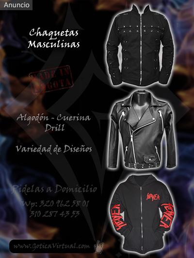 chaquetas chamarras masculinas disenos venta online rock metal bogota huila villeta funza cali popayan colombia