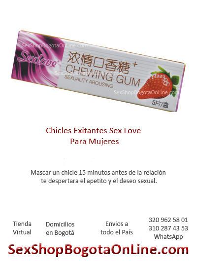 chicles exitantes para mujer mejor experiencia sexual comestibles sexuales sex shop dulces eroticos tienda virtual envios medellin cali manziales pereira armenia