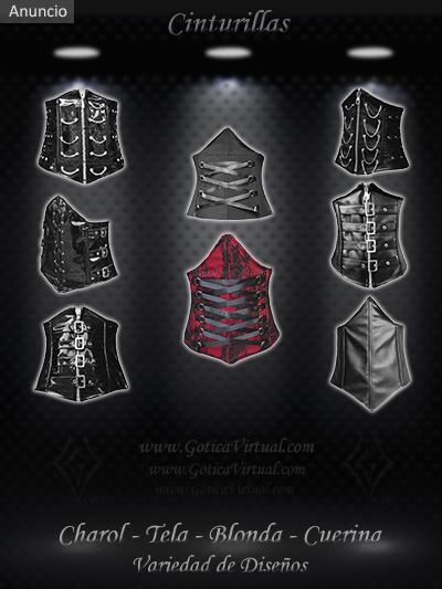 cinturilla cuerina cuero charol tela blonda tienda online rock metal chaci sexy bogota bucramanga colombia