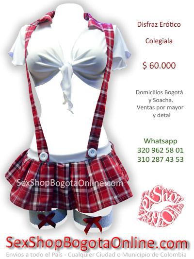 disfraz colegiala sexy erotica chica venta online domicilios bogota tunja chia manizales pereira pasto mosquera colombia