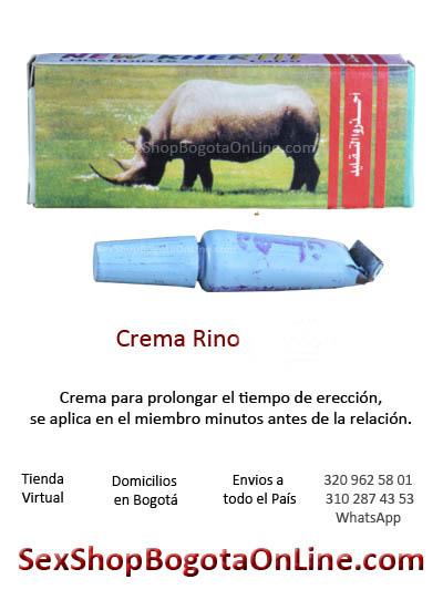 crema rino rinoceronte exitador masculino ereccion endurecer pene miembro placer hombre medellin cali bogota