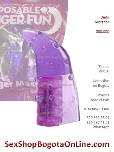 dedo vibrador goma sensor accesorios sex shop bogota online juguetes sexuales medellin cali pereira santander popayan