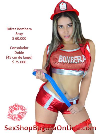 disfraz chica erotico sexy lenceria bombera juegos erotismo sensualidad pareja venta online sex shop bogota domicilios usme bosa soacha cali americas banderas usaquen jimenez colombia