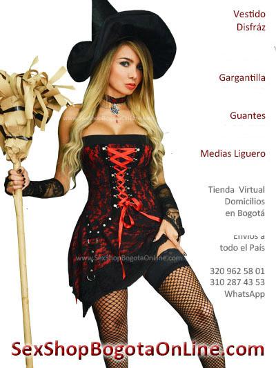 disfraz bruja bogota sexy barato gotico vestido cintas sexy envios medellin cali manizales pereira accesorios
