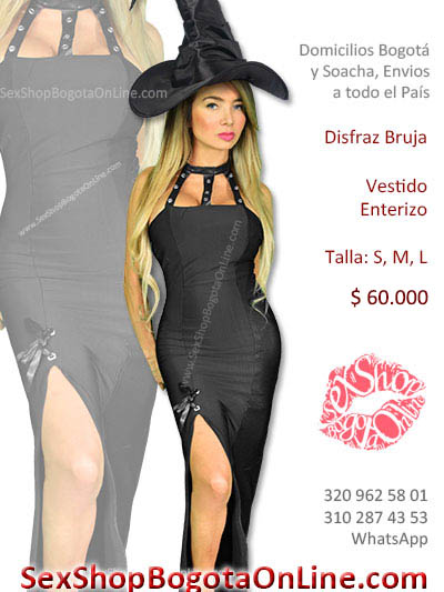 disfraz bruja sexy vestido bonito economico venta online envios bogota cartagena medellin neiva cucuta pereita cali colombia