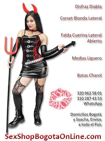 Disfraz diabla sexy perversa erotica soacha bogota demonia cachos halloween mujer dama femenina tienda ventas por mayor y detal