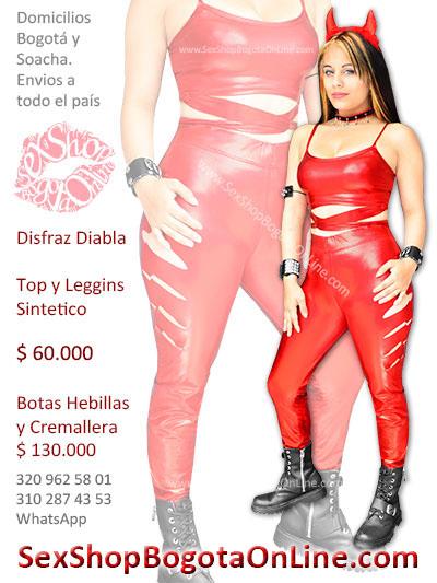 disfraz diabla sexy top leggins sintetico rojo venta online envios bogota medellin cali soacha manizales pereira cucuta barranquilla cartagena ipiales ibague