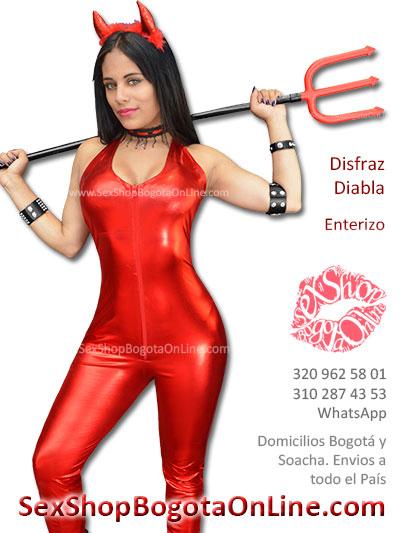 enterizo disfraz rojo diabla demonia bogota erotico economico mujer dama femenino envios ventas medellin cali ibague cucuta