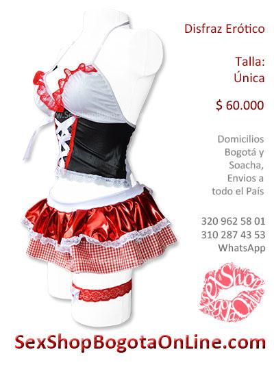 disfraz erotico falda tanga liguero juego sexy venta online envios bogota cartagena medellin neiva cucuta pereita cali colombia