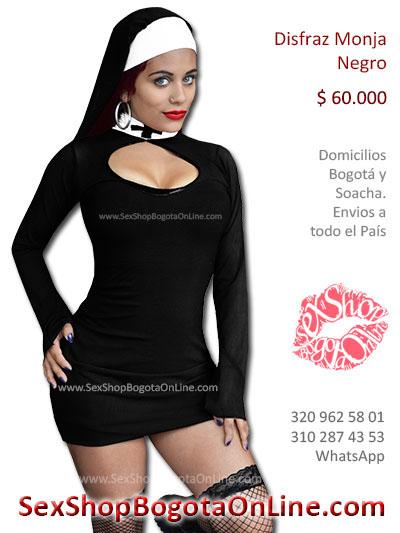 disfraz monja cafe unica licrado velo sexy domicilios bogota cali cundinamarca  manizales cucuta colombia sex shop online