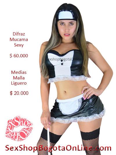 disfraz mucama sexy erotico juegos fantasias pareja venta online sex shop bogota medellin caldas villeta tunja duitama choco valle mosquera chia la calera colombia