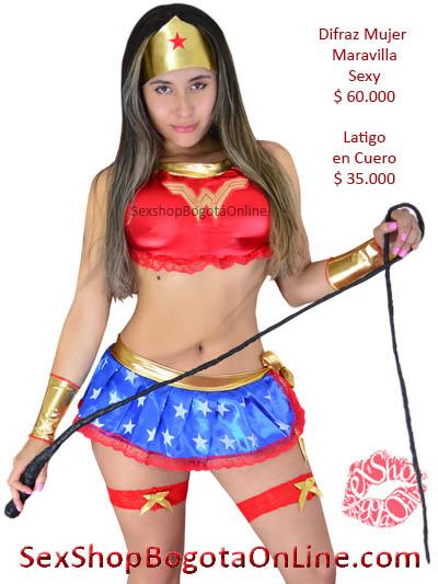 disfra mujer maravilla sexy erotico sensual chica sex shop bogota online domicilios chia mosquera valle pereira manizales colombia