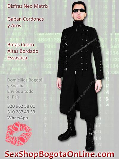 disfraz neo matrix masculino gaban botas venta online envios bogota medellin cali soacha manizales pereira cucuta barranquilla cartagena ipiales ibague
