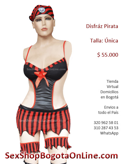 disfraz pirata sex shop eroticos bonitos sexys sensuales provocativos cortos ligueros insinuadores medellin cali pasto barranquilla halloween ventas por mayor