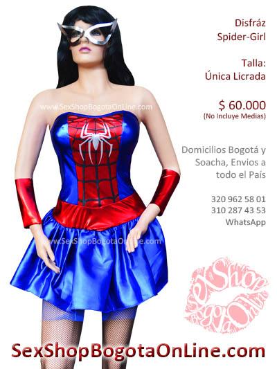 disfraz spider bogota spiderman girl dama para mujer halloween vestido estraple costum woman dia noche brujas soacha medellin cali manizales pereira
