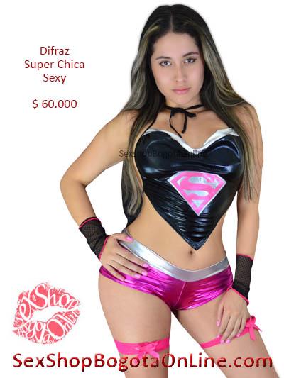 disfraz super chica sexy erorico venta online domicilios bogota caldas tunja cesar mosquera monteria valle armenia pasto quindio cali colombia