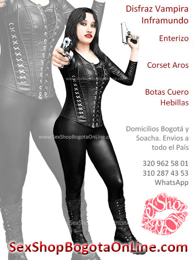 disfraz vampira inframundo sexy negro sex shop atrevido envios colombia bogota cali medellin manizales