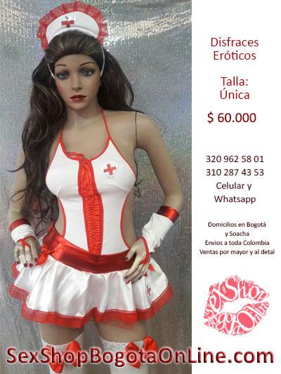enfermera sexy atrevida linda disfraz falda liguero sex shop envios toda colombia bogota soacha