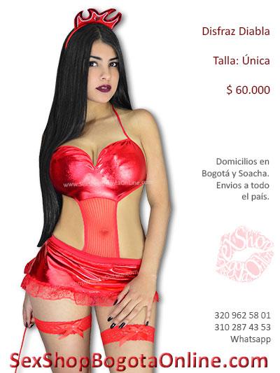 enterizo rojo disfraz diabla sexy chica sex shop erotico sensual lenceria fantasias halloween bogota venta caldas boyaca cesar tunja colombia