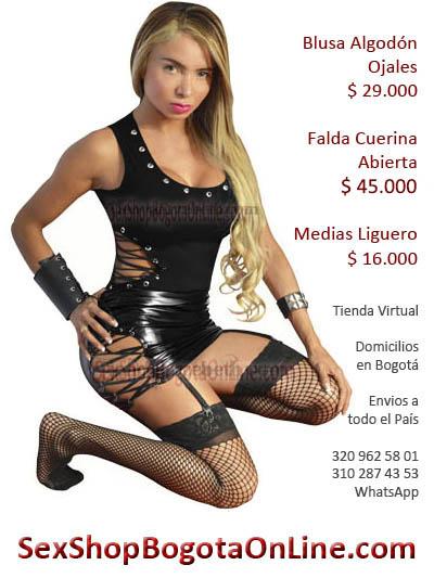 falda abierta cuerina imitacion blusa algodon sex shop ojales liguero sexy dama femenina envios bogota villao metal santander buga bucaramanga ibague pereira