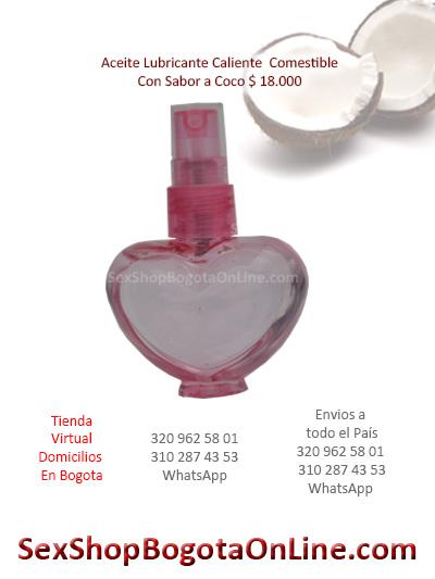 lubricante con sabor a coco exitante placentero forma corazon economico sex shop medellin manizales ibague