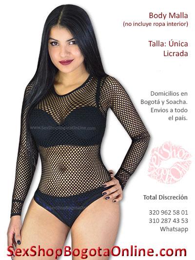 body malla negro sensual erotico sex shop chica sexy villeta caldas huila tunja santander popayan cartagena colombia