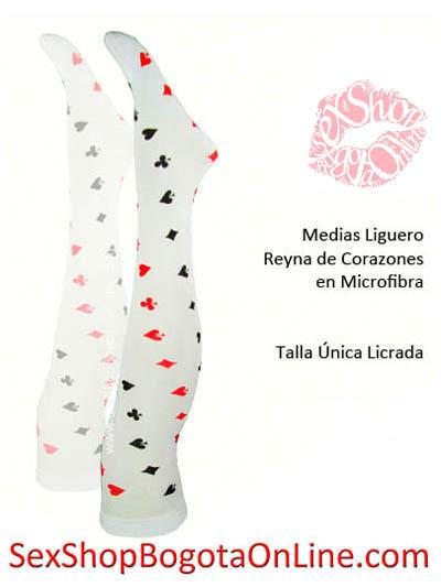 medias halloween bogota disfraces disfraz reina de corazones blanca rojos figuras puntos cartas naipe baraja microfibra veladas gruesas mediapantalon estresh