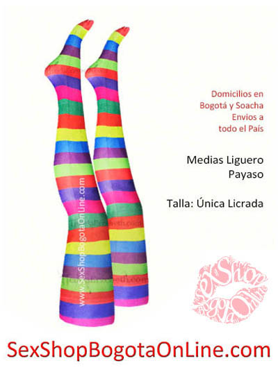 medias liguero bogota payasa disfraz colores arcoiris artos domicilios soacha medellin cali manizales pereira armenia cucuta villavicencio