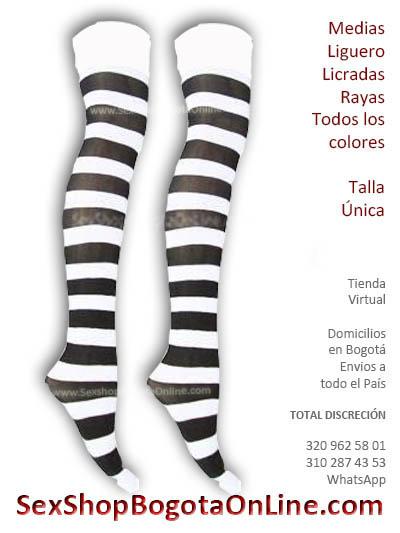 medias liguero rayas colores variedad microfibra tienda virtual halloween disfraces envios medellin cali popayan tunal bosa chico