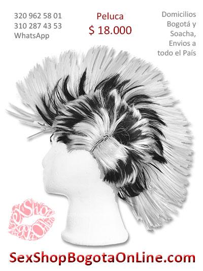 peluca cresta blanca con negro sex shop economica venta online domicilios bogota y soacha envios colombia