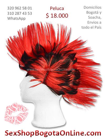 peluca cresta roja con negro sex shop economica venta online domicilios bogota y soacha envios colombia