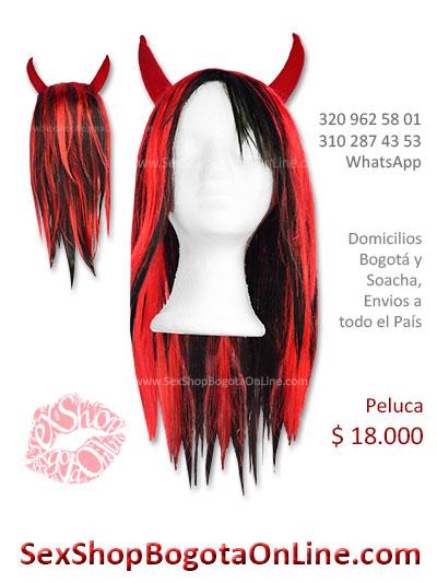 peluca femenina diabla sex shop bonita economica venta online domicilios bogota y soacha envios colombia