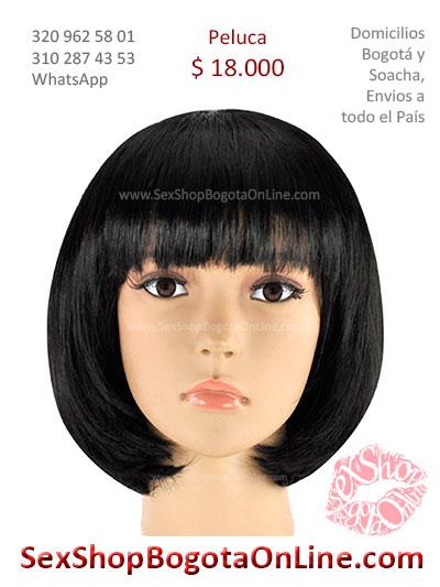 peluca femenina blanca corta lisa sex shop bonita economica venta online domicilios bogota y soacha envios colombia