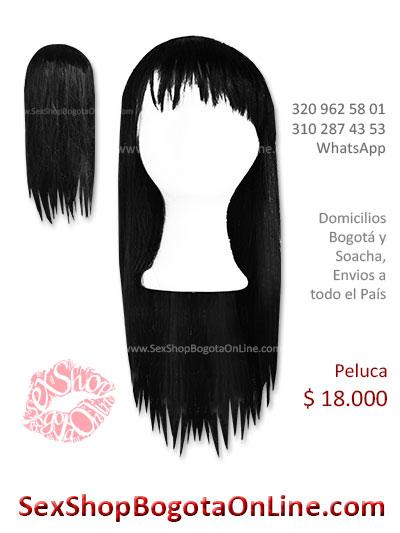 peluca femenina negra larga lisa sex shop bonita economica venta online domicilios bogota y soacha envios colombia