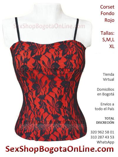 corset rojo erotico sex shop melgar damas bogota envios colombia cuucta risaralda guamo espinal ibague eroticos