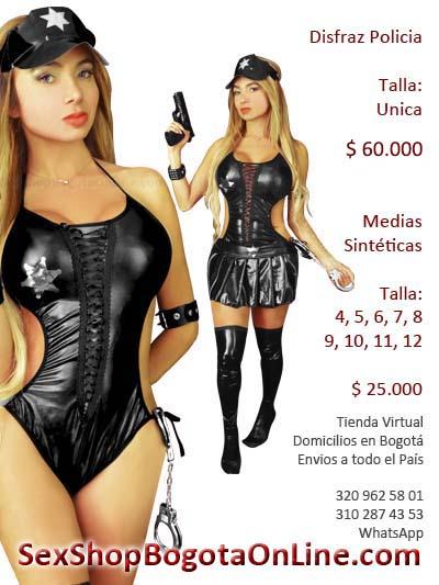 Disfraz Policia Sexy - Domicilios Bogota y Soacha medias sinteticoas bogota cali manizales pereira pasto santander tunja