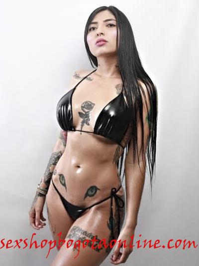 sexy bikini lame sintetico negro pvc brillante guantes medias bucaneras de amarrar ajustable strech licrado para playa lenceria envios nacionales domicilios bogota soacha