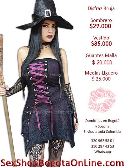 disfraz bruja economico sensual chica fantasias juegos sex shop erotico lenceria domicilios bogota suba bosa usme fontibon colombia