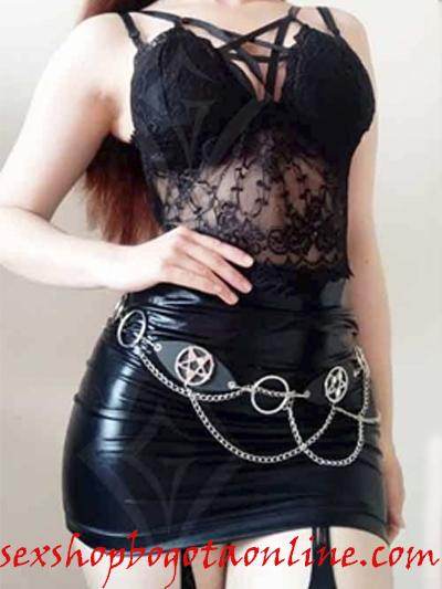 sexy falda negra pvc lame sintetico brillante strech licrada comoda ajustada sado sex shop envios nacionales domicilios bogota soacha