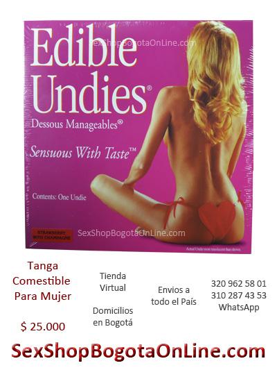 tanga comestible para dama mujer envios colombia domicilios bogota tienda eroticos intima ropa shows