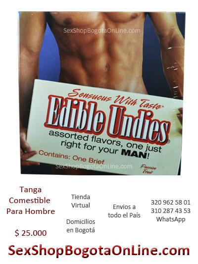 tanga comestible para hombre caballero erotica sexual sabores juegos sex shop prendas frutas