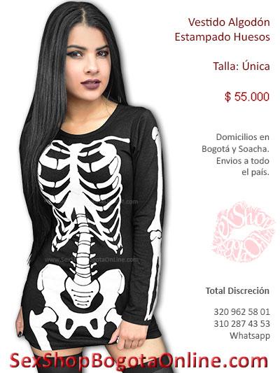 vestido negro licrado corto sexy disfraz muerte parca chica juegos fantasias erotico sex shop venta online bogota colombia sensual